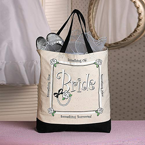 Bag Bridal (Fun Express - (XL Bride Tote Bag for Wedding - Apparel Accessories - Totes - Novelty Totes - Wedding - 1 Piece)