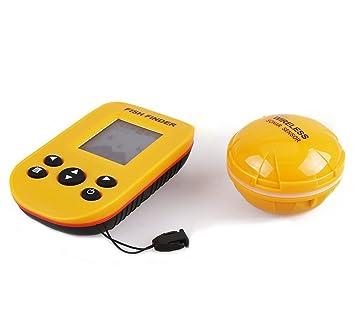 Snail Shop Detector de Sonar Inalámbrico Detectores de Peces 328.08 pies conexión de cables y ángulo ...
