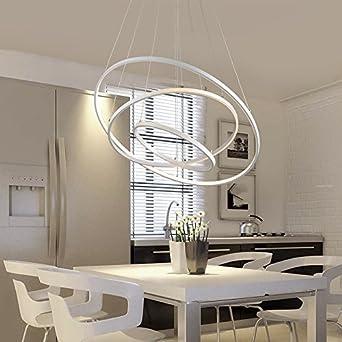 Pour Lustre Led Moderne Suspension Salle De Créatives Circulaire Éclairage xBrdoCe