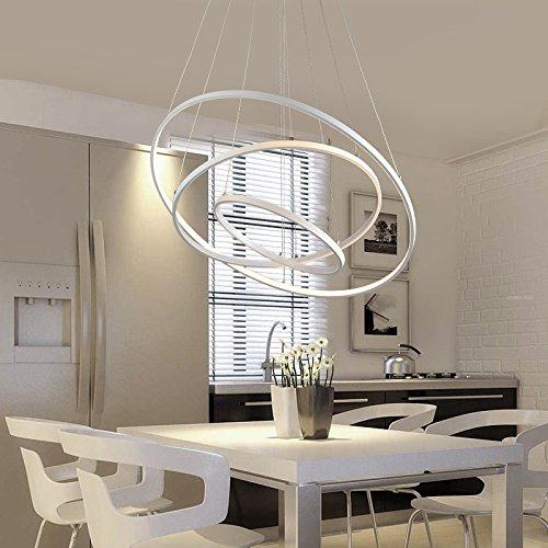 JJQLampadario Sala da pranzo circolare creativo Lampadario a LED ...