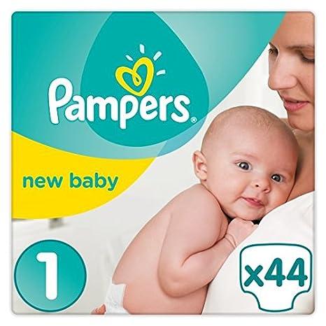 Pampers - Pañales para bebé (talla 1, 44 unidades)