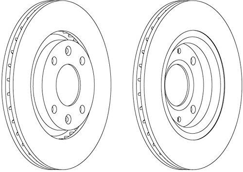 set of 2 Ferodo DDF1140 Brake Disc