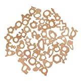 MagiDeal Lot 45pcs Natural Wooden Aniaml Shape Baby Teether Teething Toys DIY Crafts