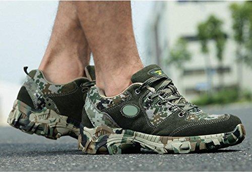 WZG Ejército de los aficionados de los nuevos hombres al aire libre botas de las fuerzas especiales del ejército de campo del desierto para ayudar a baja otoño e invierno para las botas de combate de  woodland color