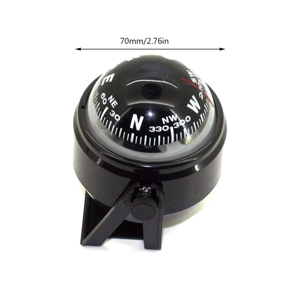 Car Navigation Sensitive Marine Auto Strong Directive Compass Small Black Ball Compass Ideal for Boat