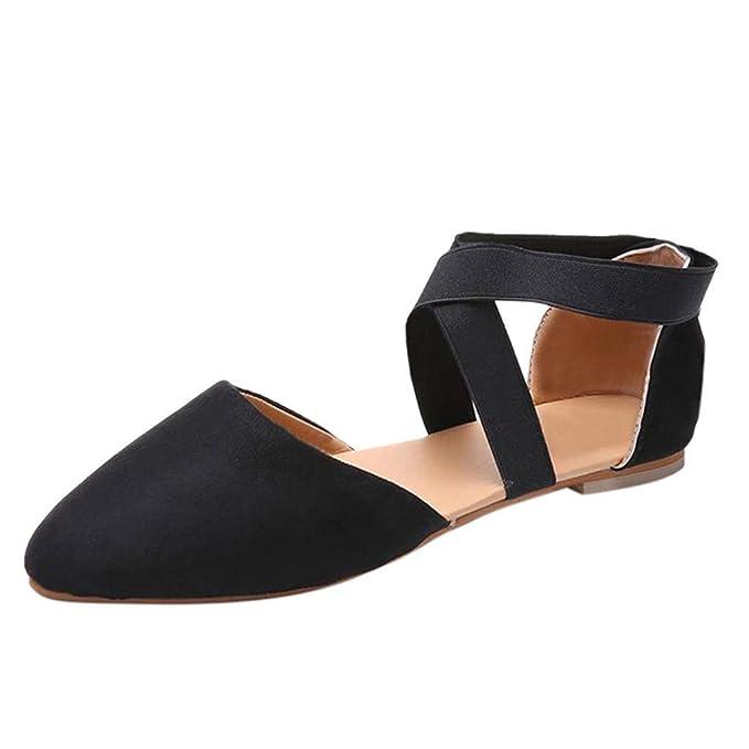 7cc7cc7e00c64 Amazon.com: Womens Sexy Pointed Toe Flat Leopard Sandals, Casual ...