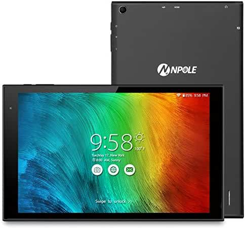 NPOLE Tablet 10.1 Inch Android 6.0 Tablet 16GB ROM 2GB RAM HD 1280x800 IPS Display Wi-Fi HDMI Bluetooth 4.0 HD Video 3D Games supported (Black)