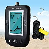 Erchang Sonar Fish Finder Smart Sonar Fish Finder Water Temperature Display & Shallow Water Alarm Fish Finder