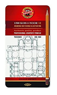 12 Pc Koh-I-Noor D'or Graphite Art Pencil Set (Engineering Set)