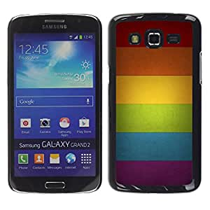 Paccase / SLIM PC / Aliminium Casa Carcasa Funda Case Cover para - Rainbow Colors Spectrum Horizontal - Samsung Galaxy Grand 2 SM-G7102 SM-G7105
