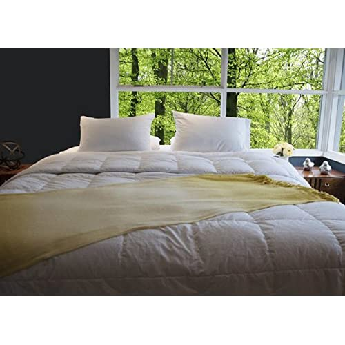 Wholesale JS Comforts Premium Silver Antimicrobial 800 Thread Count Egyptian Cotton White Goose Down Comforter Extra Warm - Queen hot sale