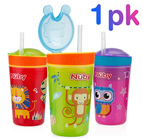 (Nuby 1pk Snack N' Sip 2 in 1 Snack and Drink Cup - Colors May Vary)