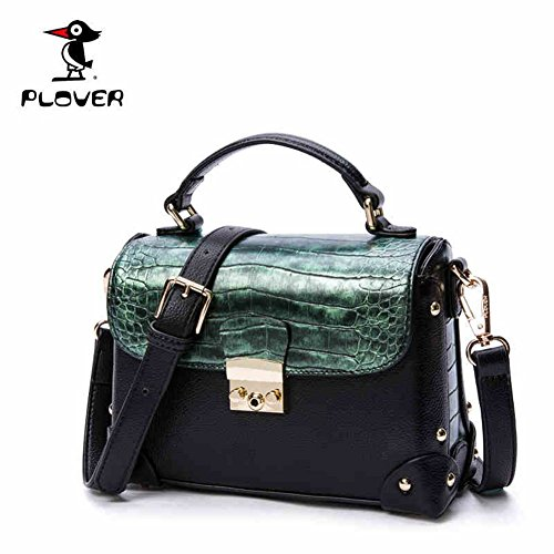 Plover New fashion crocodile snakeskin pattern ladies handbag shoulder bag Messenger bag jewelry waterproof PU leather (Dark green) - Faux Crocodile Skin Handbag
