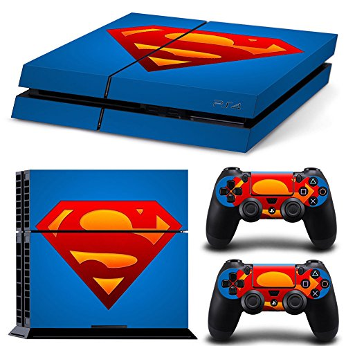 MightySticker® PS4 Designer Skin Game Console System 2 Controller Decal Vinyl Protective Covers Stickers Sony PlayStation 4 DC Justice League Super Muscle Man Hero Steel Blue Costume Chest Red S Logo (Steel Reign compare prices)