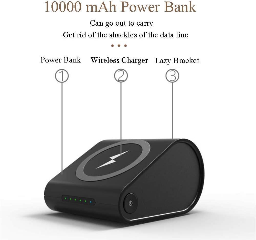 MYYING ELE Cargador Inal/ámbrico R/ápido Power Bank 10000mAh Cargador M/óvil Bater/ía Externa con Soporte Plegable Compatible paiPhone XS//XR//XS Max//8//8 Plus y Todos M/óviles con QI