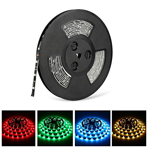 Nexlux 32.8ft LED Light Strip Waterproof IP65 5050 SMD RGB LED Flexible Strip Light Black PCB Board Color Changing Decoration Lighting (No Power Supply and Remote)