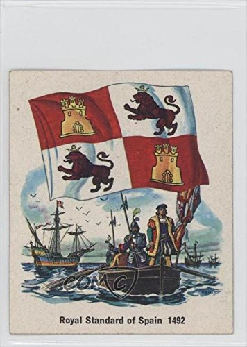 royal-standard-of-spain-1492-trading-card-1976-quality-bakers-flags-of-america-base-non