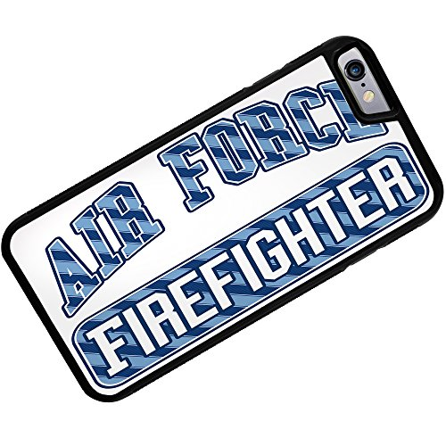 Case for iPhone 6 Plus Air Force Firefighter, Blue stripes - Neonblond