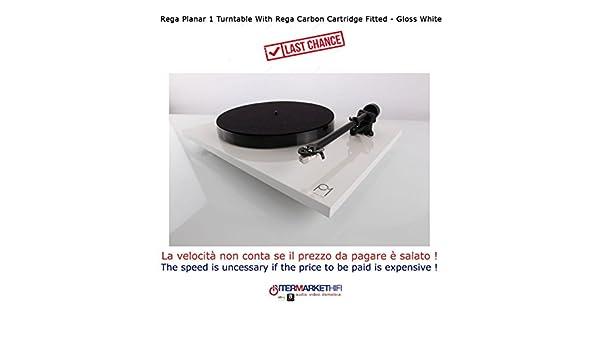 Rega Planar 1 High End Tocadiscos con fonocaptor White Glossy ...