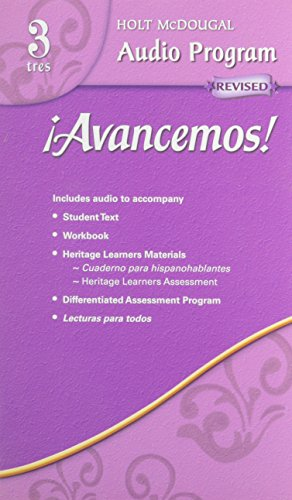 ¡Avancemos!: Audio CD Program Level 3 (Spanish Edition) by MCDOUGAL LITTEL