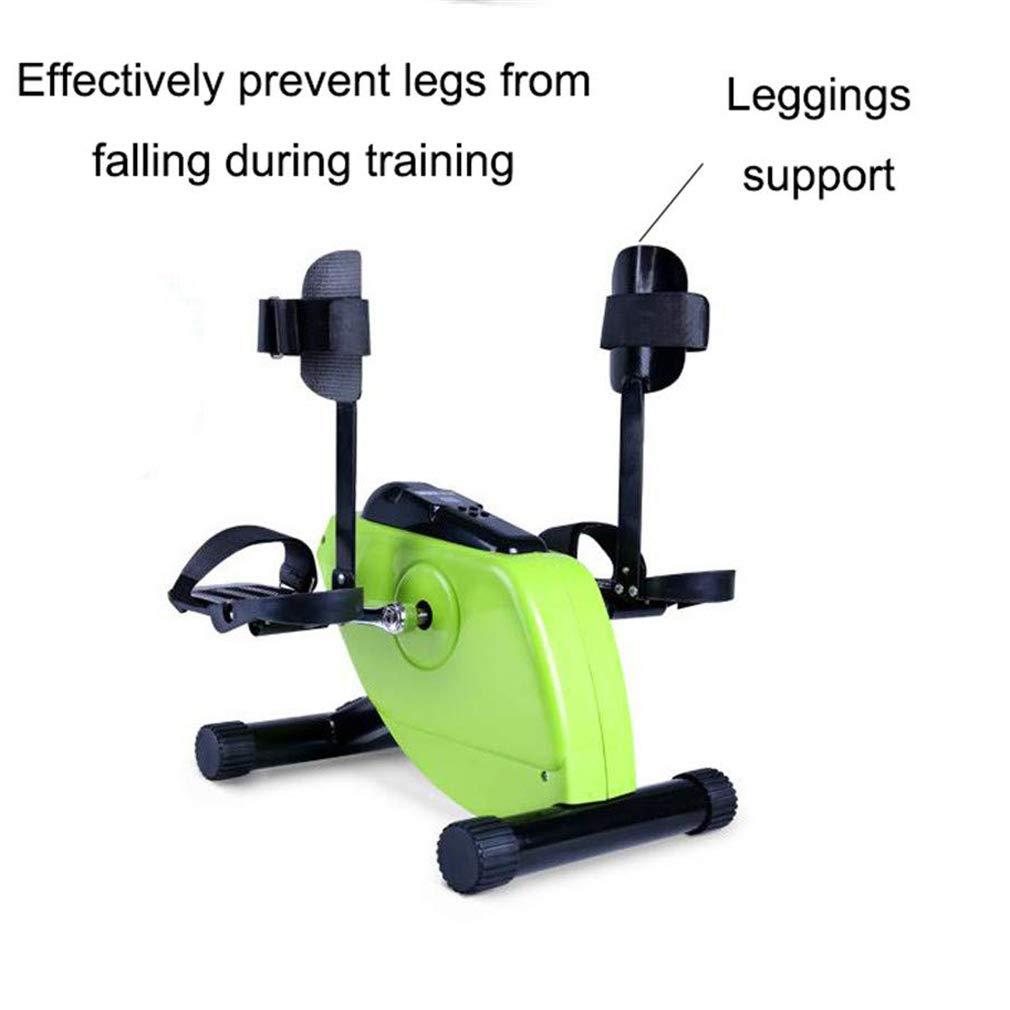 GFDDZ P/édalier /électrique pour Exercice de r/écup/ération des Bras et des Genoux avec Moniteur LCD et t/él/écommande v/élo dappartement et exerciseur de p/édale pour handicap/és et Personnes /â