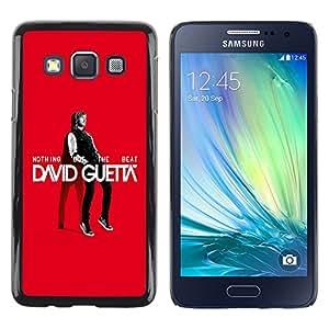 TopCaseStore / la caja del caucho duro de la cubierta de protección de la piel - The Great Guetta - Samsung Galaxy A3 SM-A300