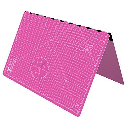 ANSIO A1 Foldable Self Healing Cutting Mat Imperial 34 inch x 22.5 inch - Pink by ANSIO