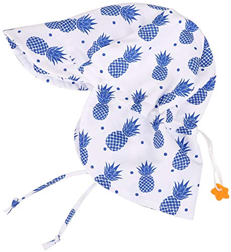 - SimpliKids UPF 50+ UV Ray Sun Protection Baby Hat w/Neck Flap,Pineapple,2-4 Y