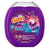 Gain Flings! Scent Duets Laundry Detergent Pacs, Wildflower/Waterfall, 61 Count