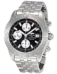 Breitling Men's A1336410/B719 Chrono Galactic Chronograph Black Dial Watch