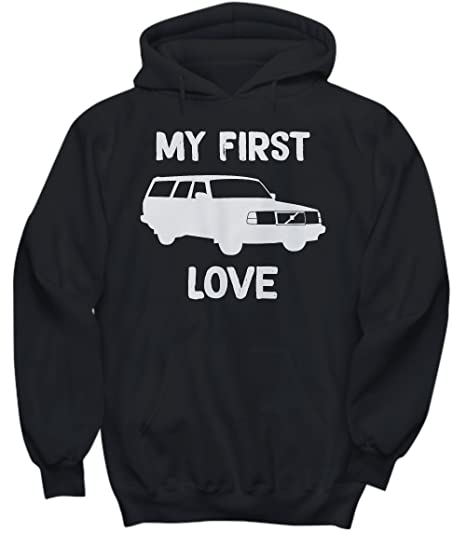 Volvo 240 My First Love Turbo Hoodie - Black - Small