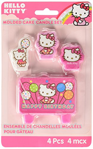 Mini Molded Cake Candles | Hello Kitty Balloon Dreams Collection | Party Accessory | 6 Sets