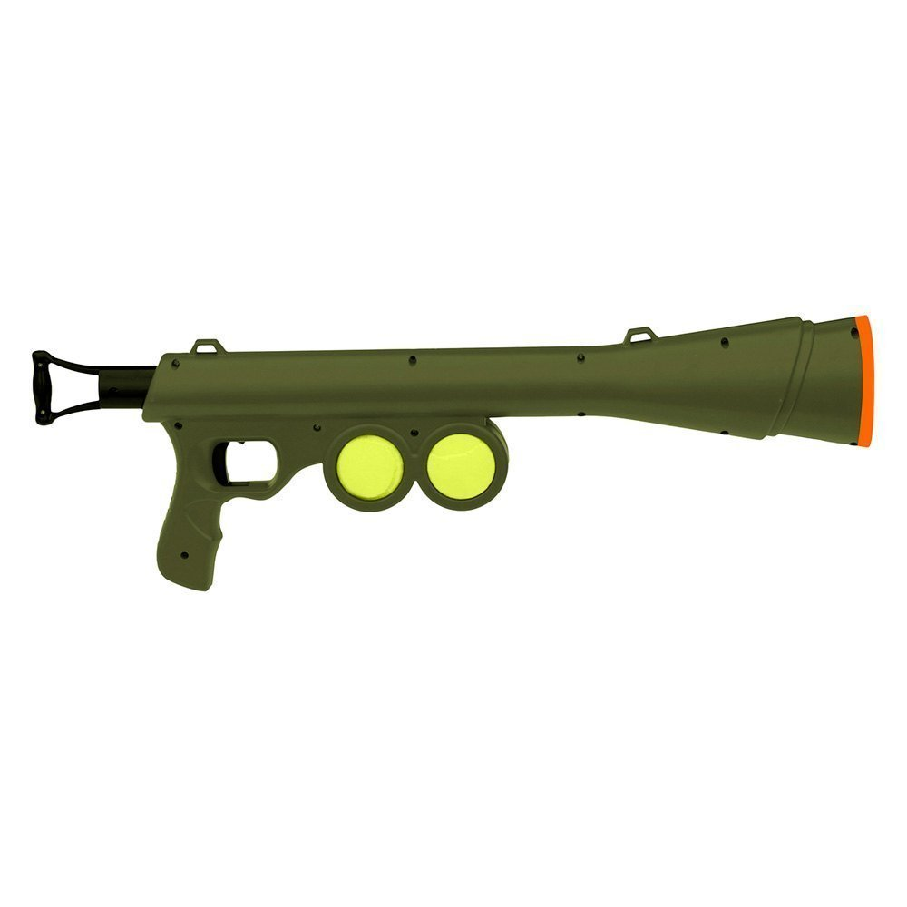 Tennis Ball Launcher Gun Rated Best Dog Toy Includes 2 Balls Sports