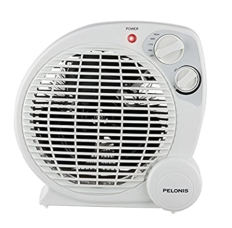 PELONIS HB-211T Portable Space Heater Model with Automatic Safety Shutoff and Energy Efficient Temperature Control 3 Heat Settings (600 W/900 W/1500 (Space Heater Office)