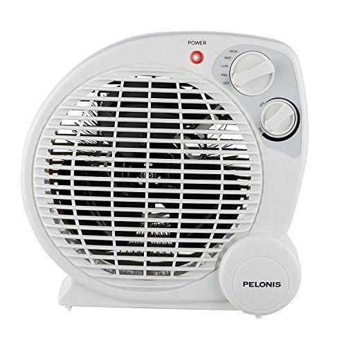 Pelonis 1500-Watt Fan Compact Personal Electric Portable Hea