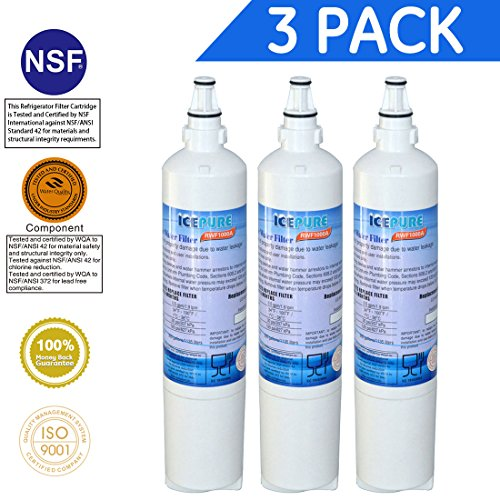 IcePure LT600P Refrigerator Water Filter Replacement LG LT600P,5231JA2006A,KENMORE 9990,RWF1000A 3PACK by ICEPURE