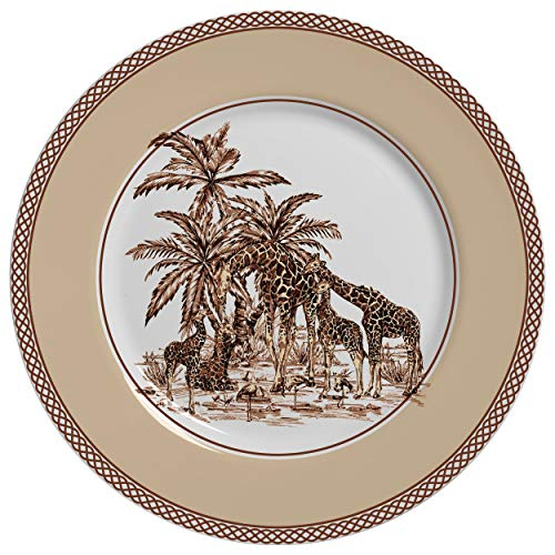 Prato Decorativo para Parede Safari Acompanha Suporte 29cm