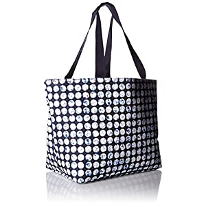 Vera Bradley Lighten up Drawstring Family Tote, Microfiber, Splash Dot