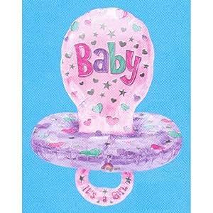 "Anagram International Baby Girl Pacifier Foil, 59"", Multicolor"