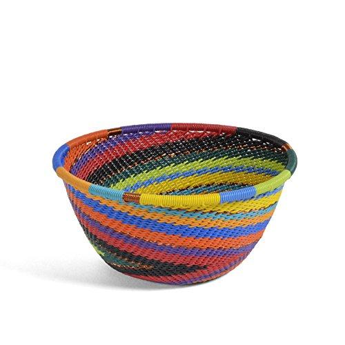 (Fair Trade Zulu Telephone Wire 4.5-inch Round Bowl, African Spirit)