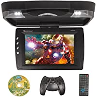 Rockville RVD13HD-BK Black 13 Flip Down Car Monitor w DVD/HDMI/USB/SD/Games
