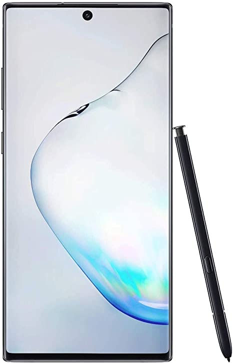 Amazon Com Samsung Galaxy Note 10 Factory Unlocked Cell Phone With 256 Gb U S Warranty Aura Black Note10