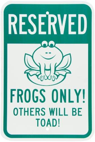 Frog Sign - SmartSign Aluminum Sign, Legend