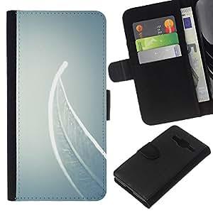 EJOY---La carpeta del tirón la caja de cuero de alta calidad de la PU Caso protector / Samsung Galaxy Core Prime / --Significado Profundo Gris Gris