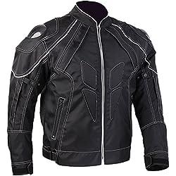 ILM Motorcycle Jackets, Carbon Fiber Armor Shoulder, Moto Jacket for Men and Women (XL, BLACK)