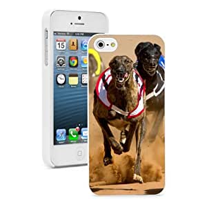 Apple iPhone 4 4S 4G White 4W817 Hard Back Case Cover Color Racing Greyhounds