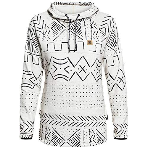 DC Apperal Women's DWR Fleece Sweatshirt, Silver Birch Mud Cloth, Size Large (Outlet Dc Shoe)