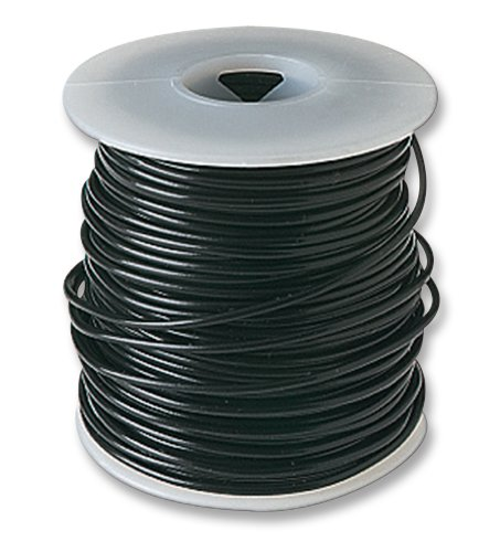 - Frey Scientific 581148 Solid Conductor PVC Coated Hookup Wire, 22 Gauge, 100' Length, Black