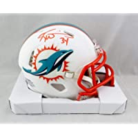 $105 » Ricky Williams Autographed Miami Dolphins Flat White Mini Helmet - JSA W Auth Orange