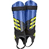adidas Unisex's X Reflex Shin Guards, Football Blue/Black/Solar Yellow, Medium